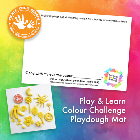 Colour Challenge Playdough Mat Printable