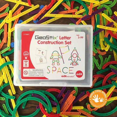 Geostix Alphabet Letters Construction Set (200 pieces!) *new set*