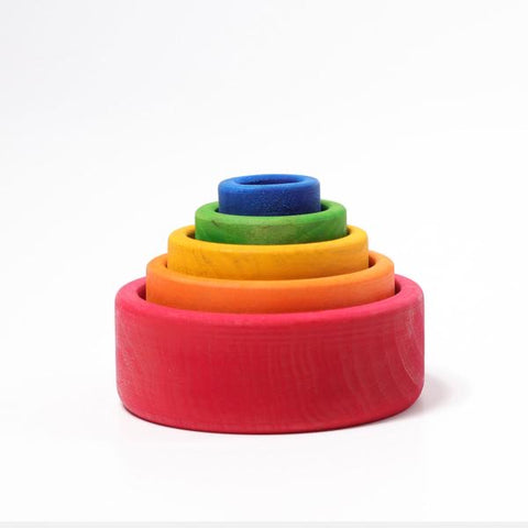 Grimms 5 Layer Rainbow Stacking Bowls