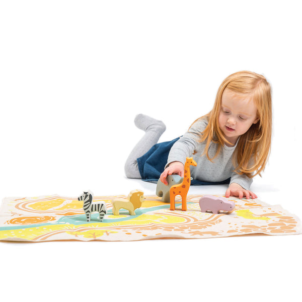 Safari Playmat with Animals