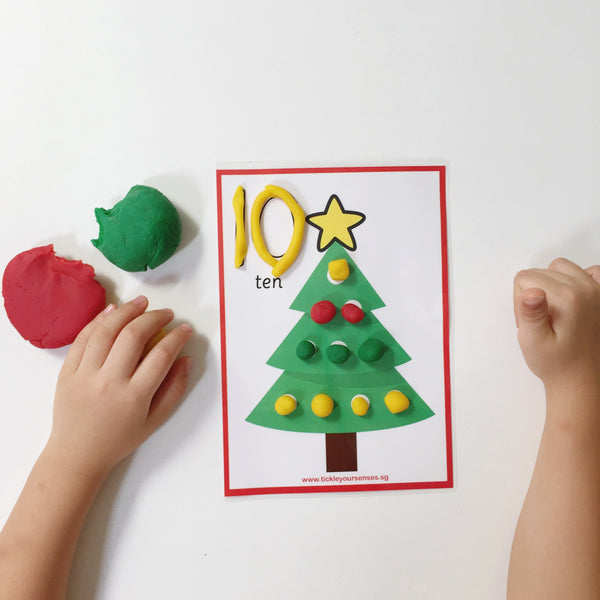 12 Days of Christmas Playdough Mat Printable