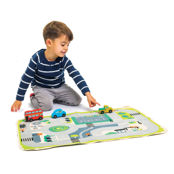 Town Playmat with Vehicles