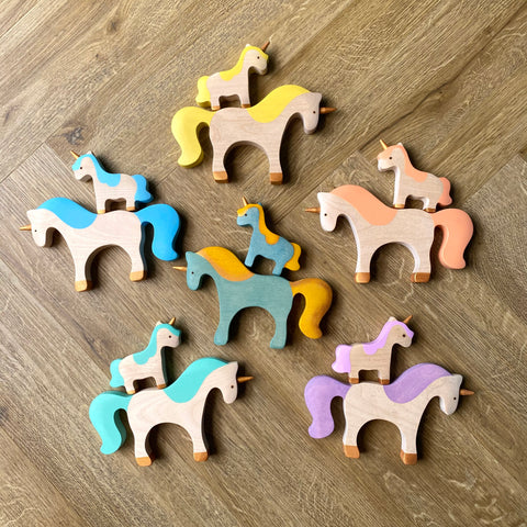 Mikheev Mummy & Baby Unicorn Pairs (Sweet Pastels) *new in store*