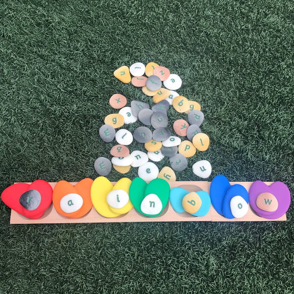 Word Building Alphabet Pebbles (full set of 50 pebbles)