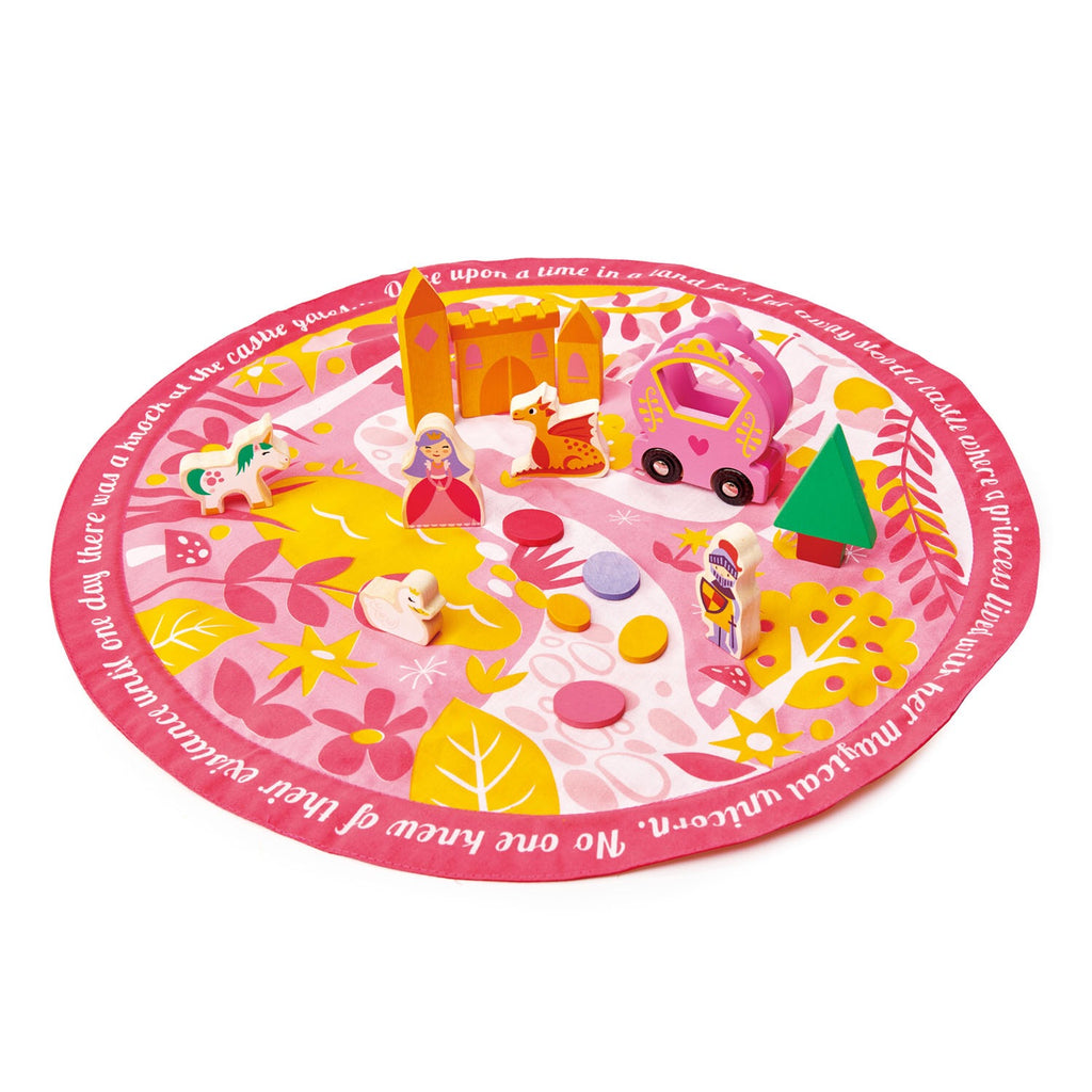 Princess Playmat Set with Fairytale characters