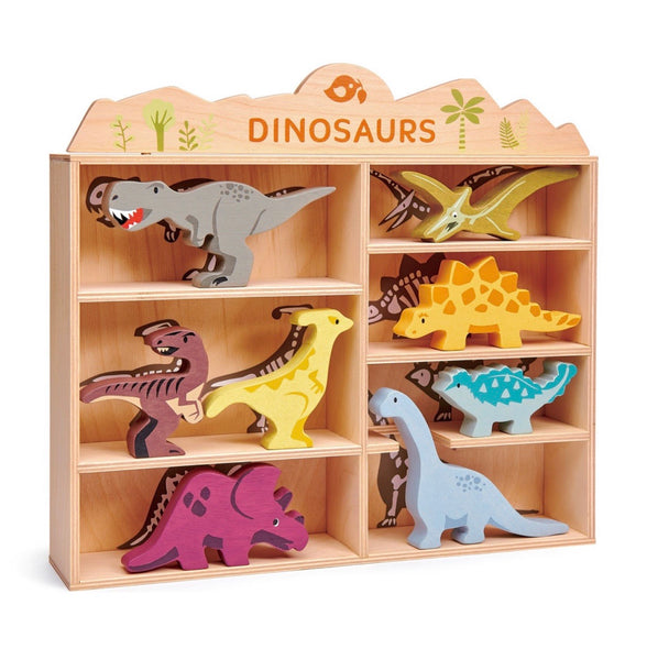 Dinosaurs + Display Wood Shelf with Skeleton prints *new in 2020*