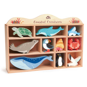 Coastal Creatures With Display Wood Shelf *new in 2020*