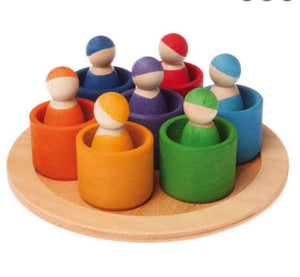 Grimms 7 Rainbow Friends in bowls *popular* *In Stock*