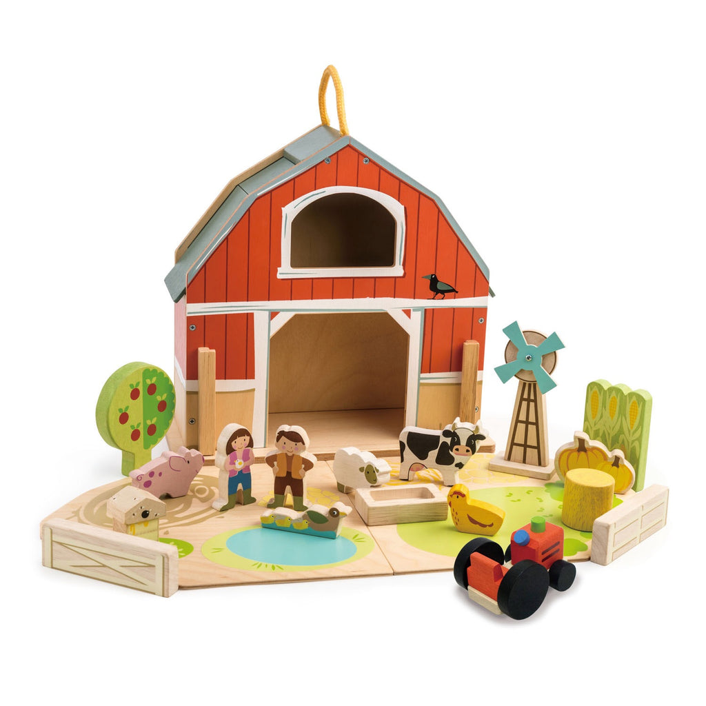 Little Farm Barn Set (Portable & Easy to Carry Handle)
