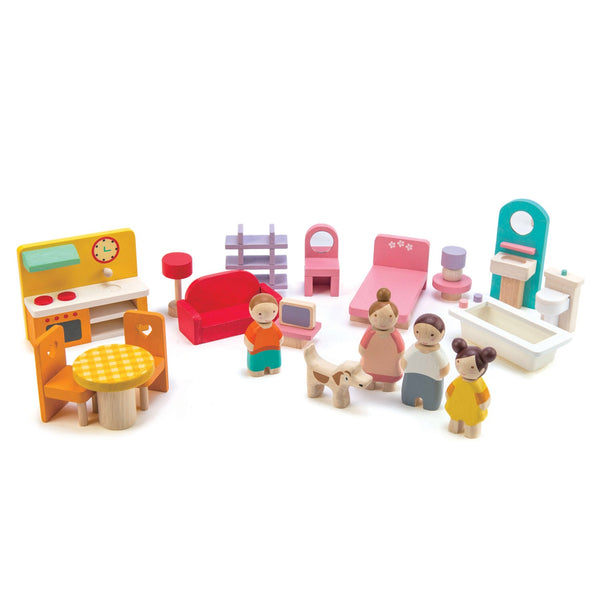 Pink Leaf Family House w/ accessories (on a swivel base) [Pre-order]