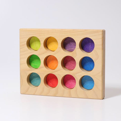 Grimms Sorting Board (Bright Rainbow) *In Stock*