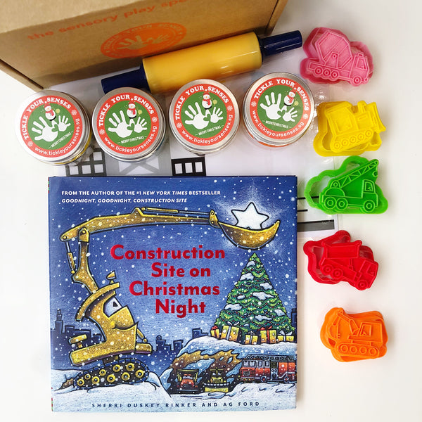 Construction Vehicles Playdough Book Kit