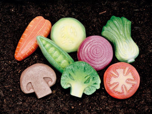 Vegetable Sensory Stones (Set of 8)