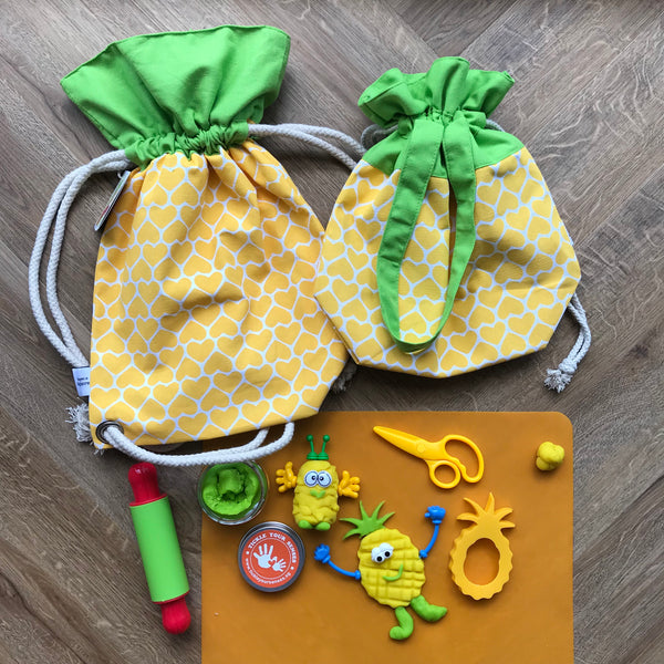 Pineapplicious Playdough Drawstring Bag Set