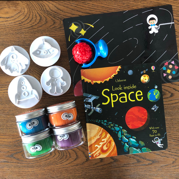 """Space"" Playdough Book Kit"