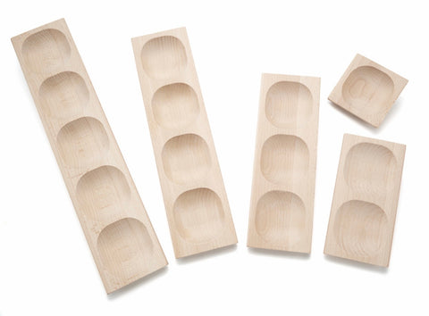 Deluxe Set of 5 Wooden Sensory Trays (1,2,3,4,5)