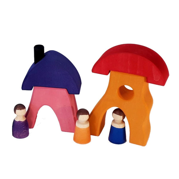 Bauspiel Gnome Colorful Houses Set (8 pieces) *Arriving Sept*