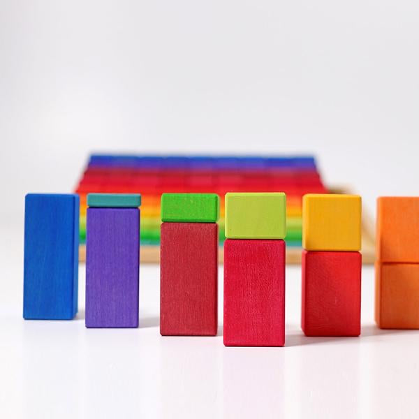 Grimms Large Stepped Counting Blocks Set