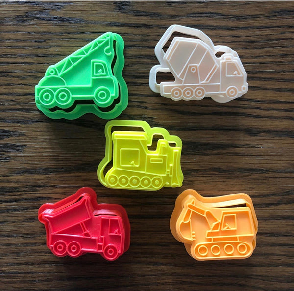 Construction Vehicles Playdough Cutters/Stampers