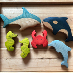 Mikheev Sea Creatures Set of 6 *contains a pair of seahorses!*