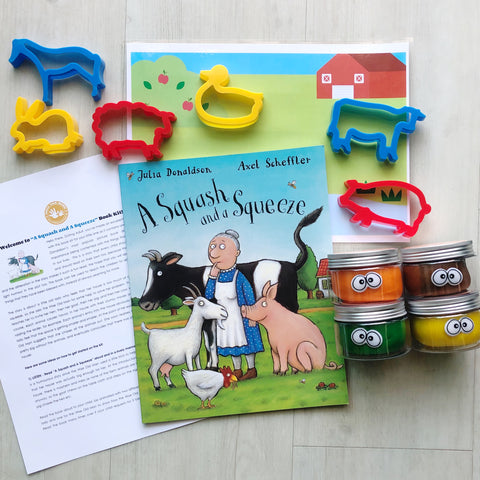 """A Squash and A Squeeze"" Playdough Book Kit"