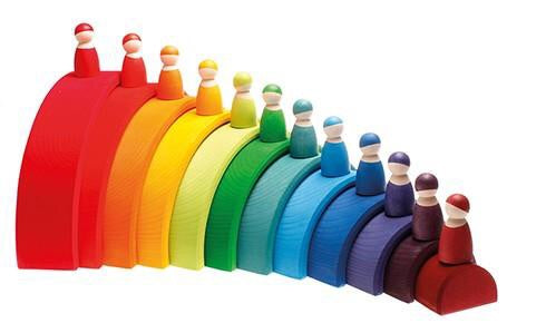 Grimms 12 Rainbow Friends (Classic, best seller) *in stock*