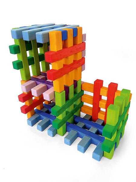 Bauspiel Grid Blocks in Color! (12 piece set) *In stock*