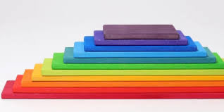 Grimms 11 Rainbow Building Boards (Bright)  *ETA Nov*