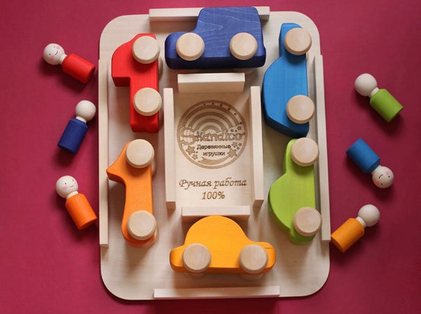Rainbow Cars & Peg Dolls Drivers Full Set *A great gift!*