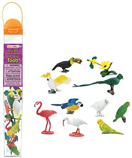 Exotic Birds Toob *colorful*
