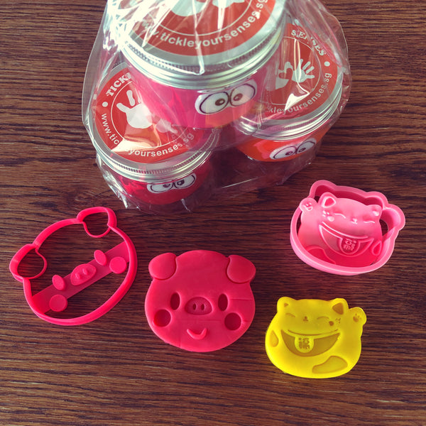Chinese New Year Piggy Playdough Pack
