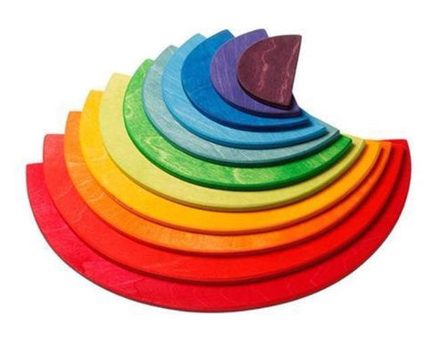 Grimms 11 piece Large Rainbow Semicircles *In Stock*