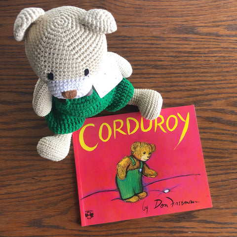Custom made Corduroy Crochet Bear *matches book perfectly*