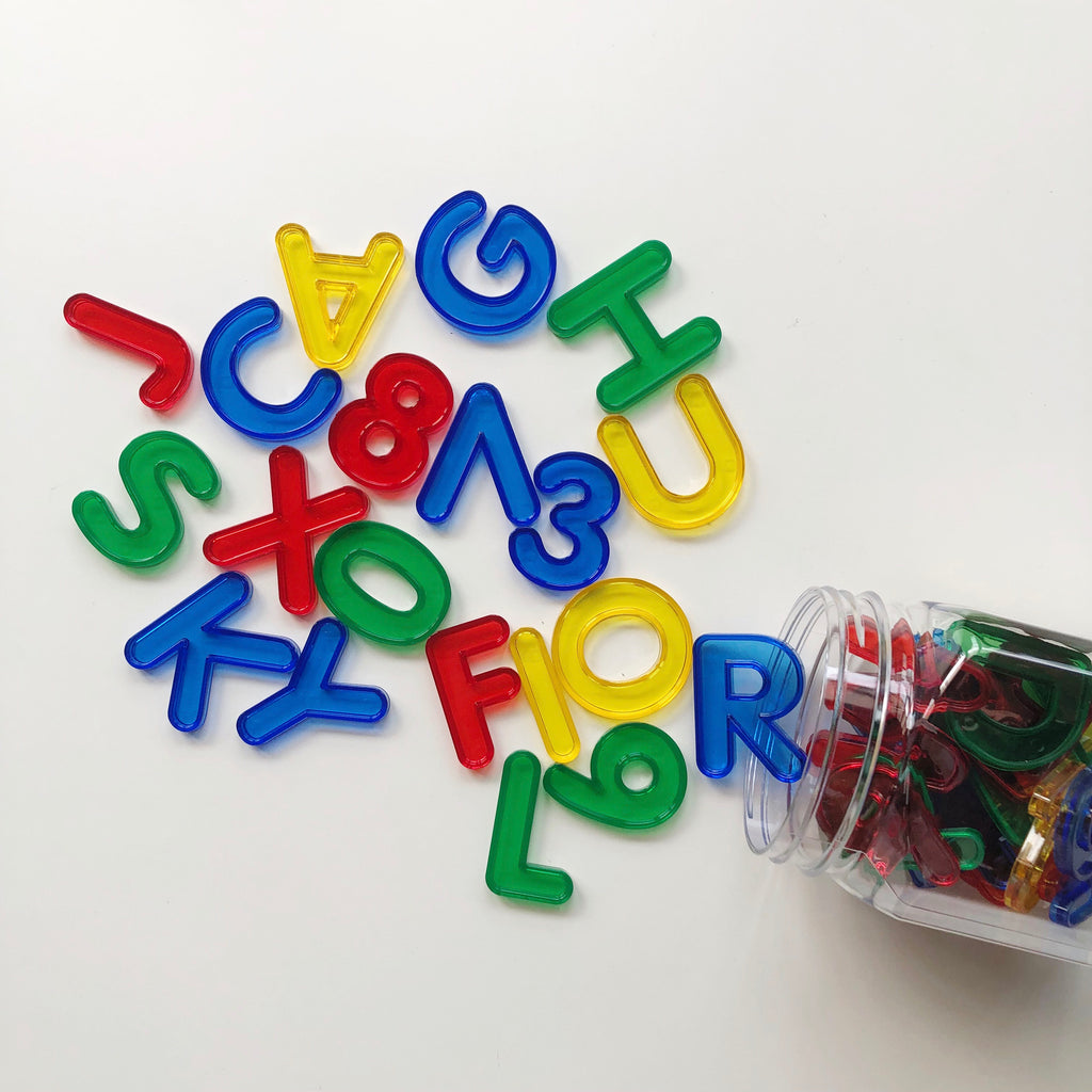 Transparent Rainbow Letters & Numbers Set