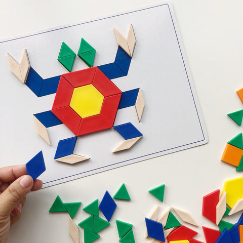 Pattern Blocks Fun Activity Box