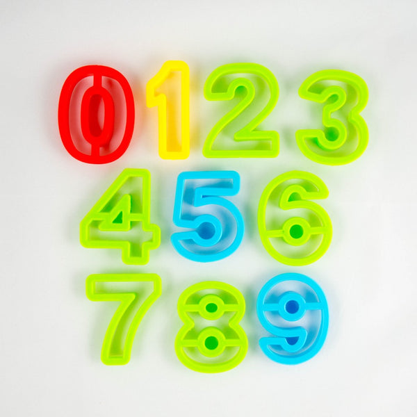 Numbers Playdough Cutters