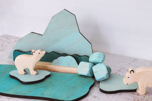 StoryScene - Arctic Story Board Set w/ Stand included & Ice Boulders too