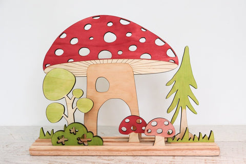 Story Scene - Mushroom Set w/ Stand included