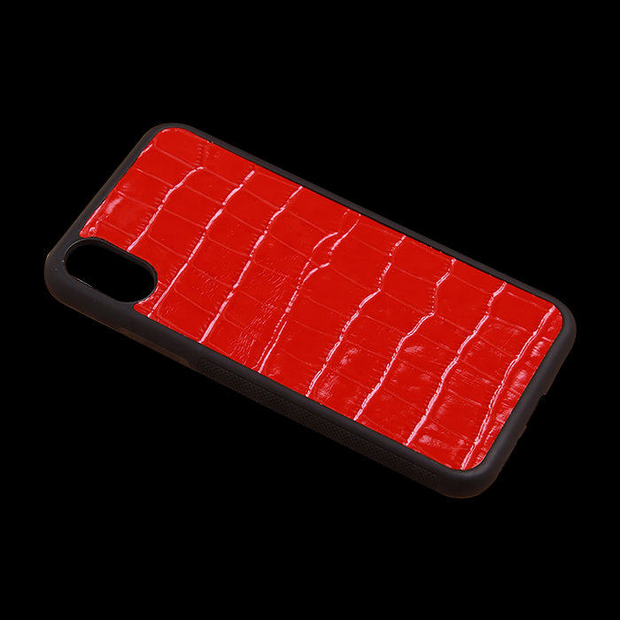 Full Grain Embossed Crocodile Leather Phone Cover For iPhone X/Xs/Xs Max - jranter