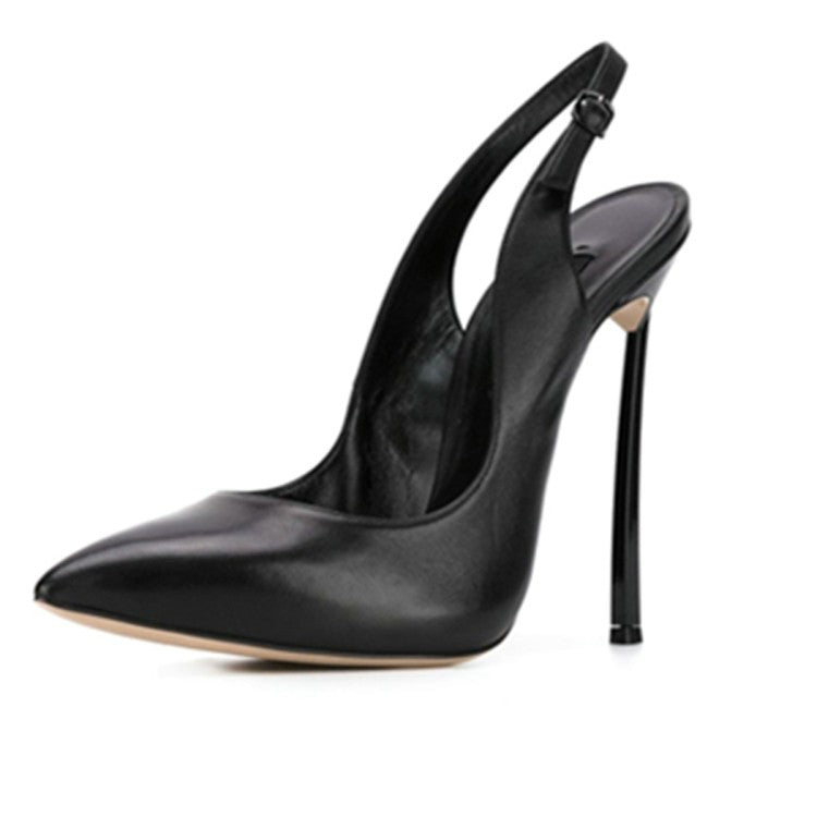 New Fashion Single Shoe Women's Spring Stiletto High-heeled Sandals With Pointed Toe Sexy Women's Shoes