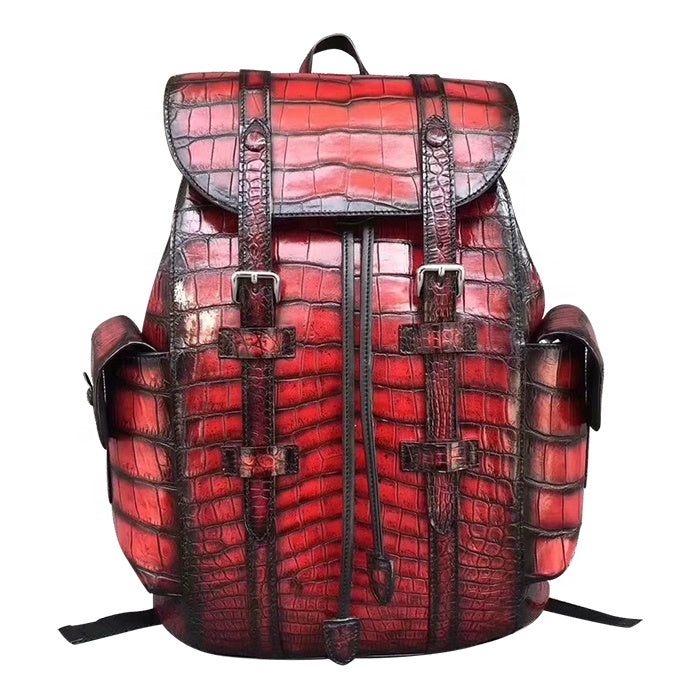 Genuine Crocodile Leather Backpack - jranter