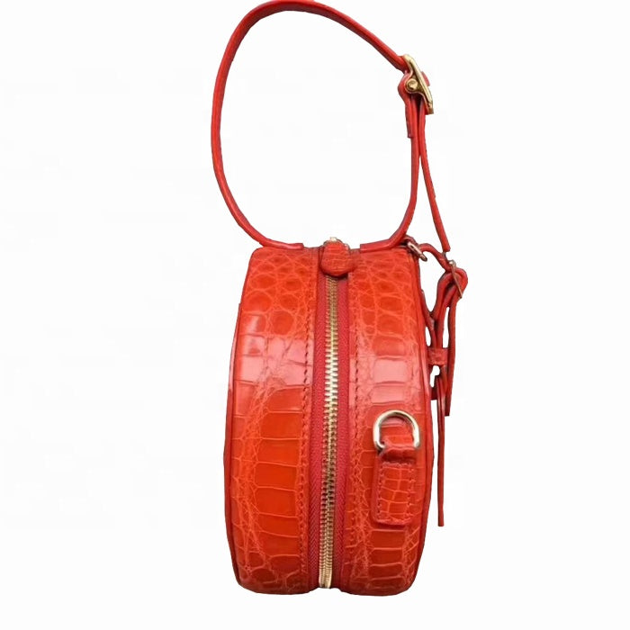 2019 Trendy Genuine Crocodile Leather Round Circle Bag Luxury Women Handbag - jranter
