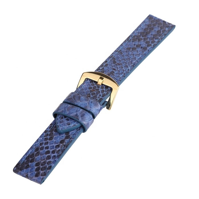 Genuine Blue Python Skin Watch Strap For Men/Women - jranter