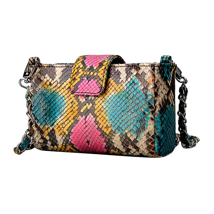 Real Python Skin Funky Evening Bag Clutch