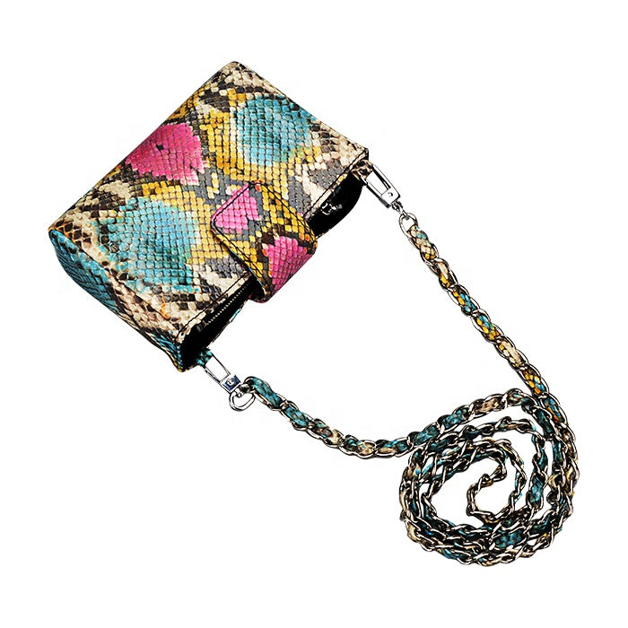 Real Python Skin Funky Evening Bag Clutch Purse - jranter