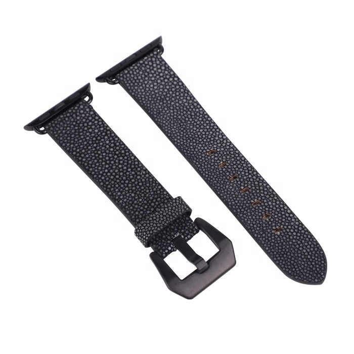 Premium Stingray Leather Watch Band Strap For Apple 38mm/40mm Apple Watch - jranter