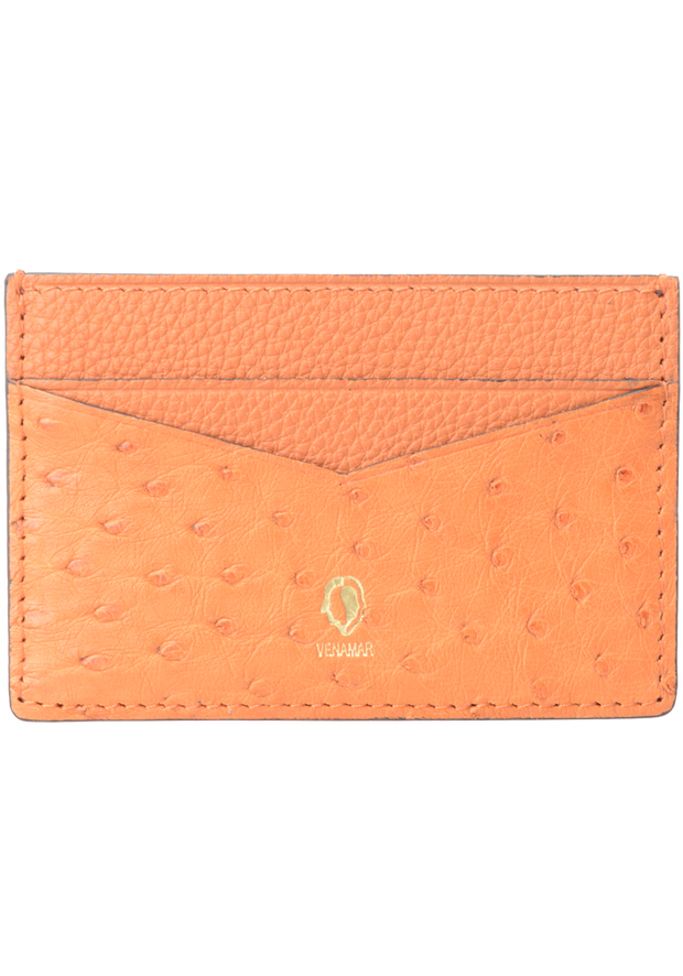 Jranter Real Ostrich Skin Card Holder