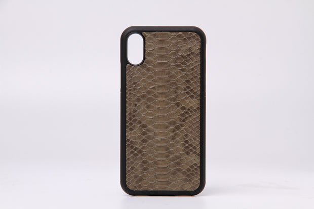 Genuine Python Skin Phone Case For iPhone X - jranter
