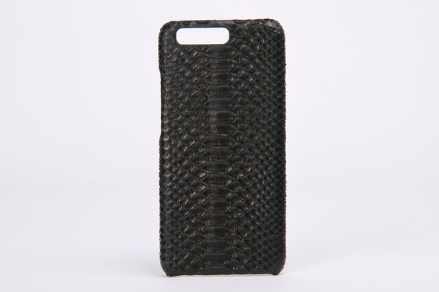 Black Real Python Leather Phone Case For HuaWei P10