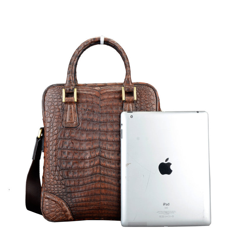 Brown Men Croc Bag - jranter